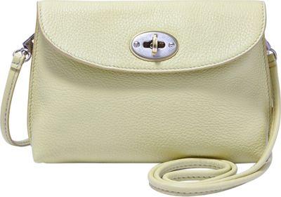 Fossil Monica Turnlock Crossbody Light Green - Fossil Leather Handbags