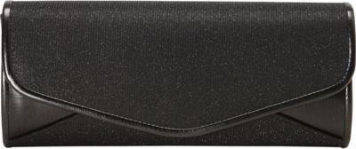 J. Furmani Sparkling Flap Clutch Black - J. Furmani Evening Bags