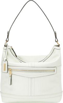Tignanello Pretty Pockets Zip Hobo White - Tignanello Leather Handbags