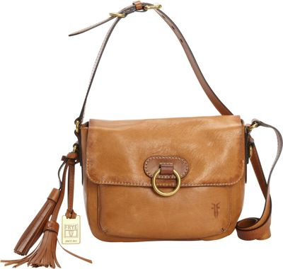 Frye Esther Ring Crossbody Tan - Frye Designer Handbags