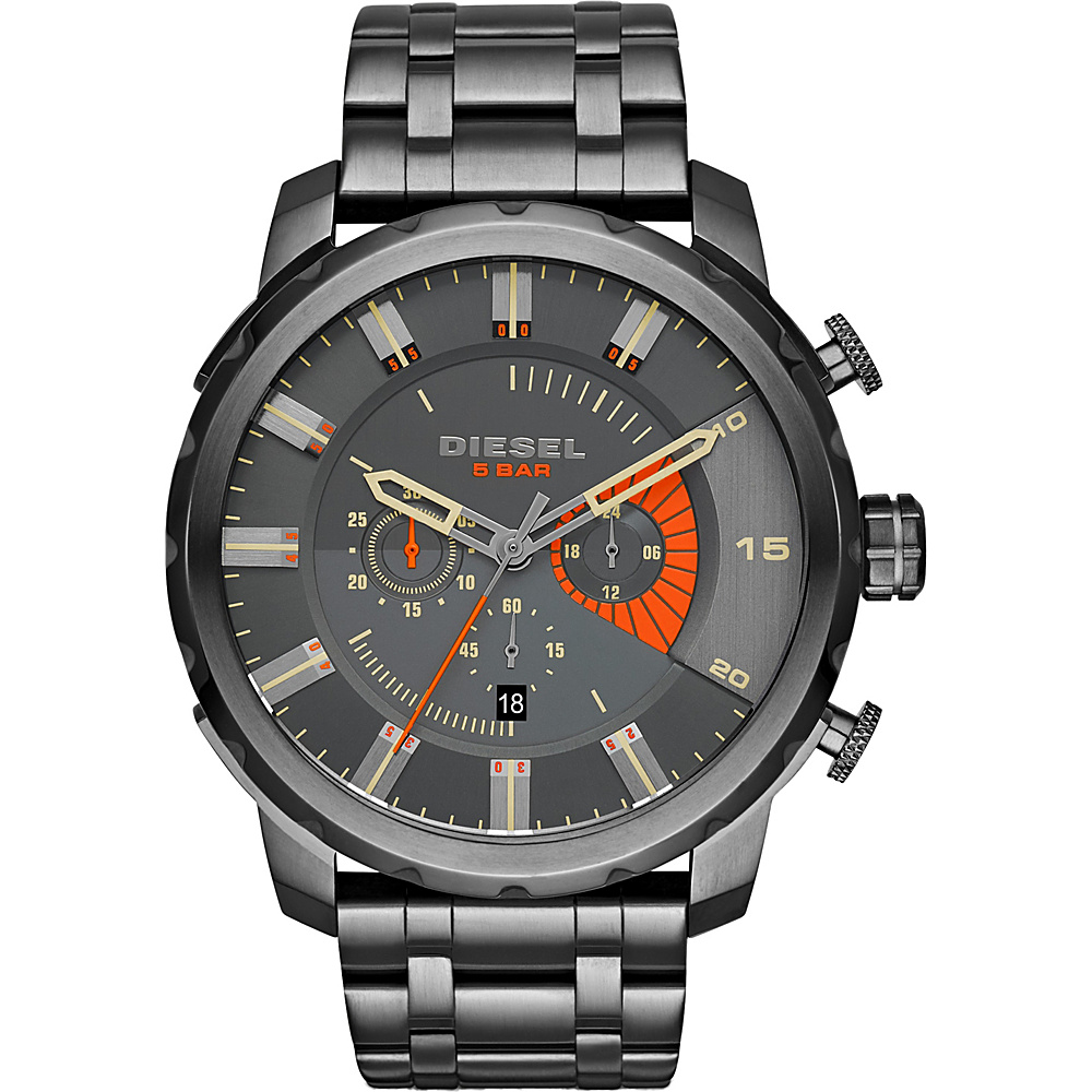 Diesel Watches Stronghold Stainless Steel Watch Grey Diesel Watches Watches