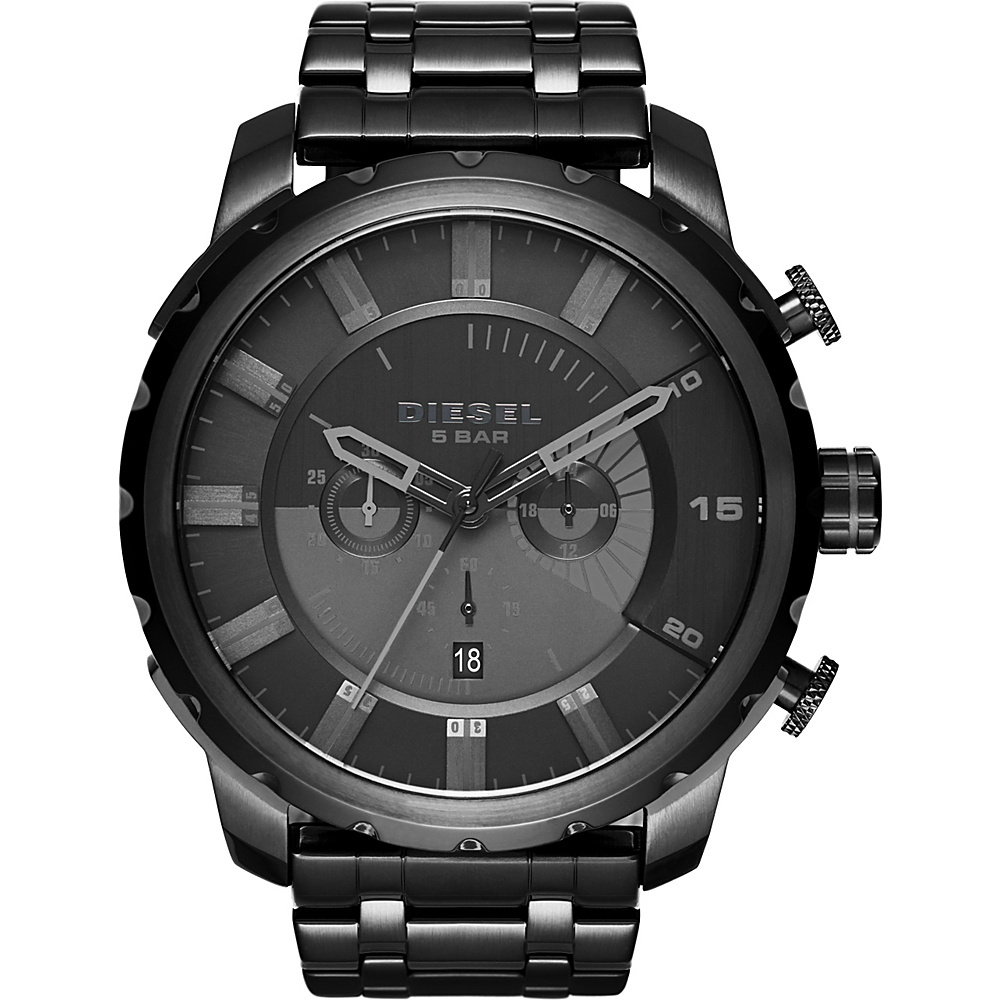 Diesel Watches Stronghold Stainless Steel Watch Black/Black - Diesel Watches Watches