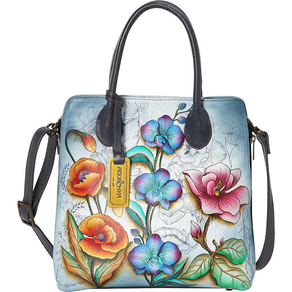 Anuschka Medium Expandable Convertible Tote Floral Fantasy - Anuschka Leather Handbags