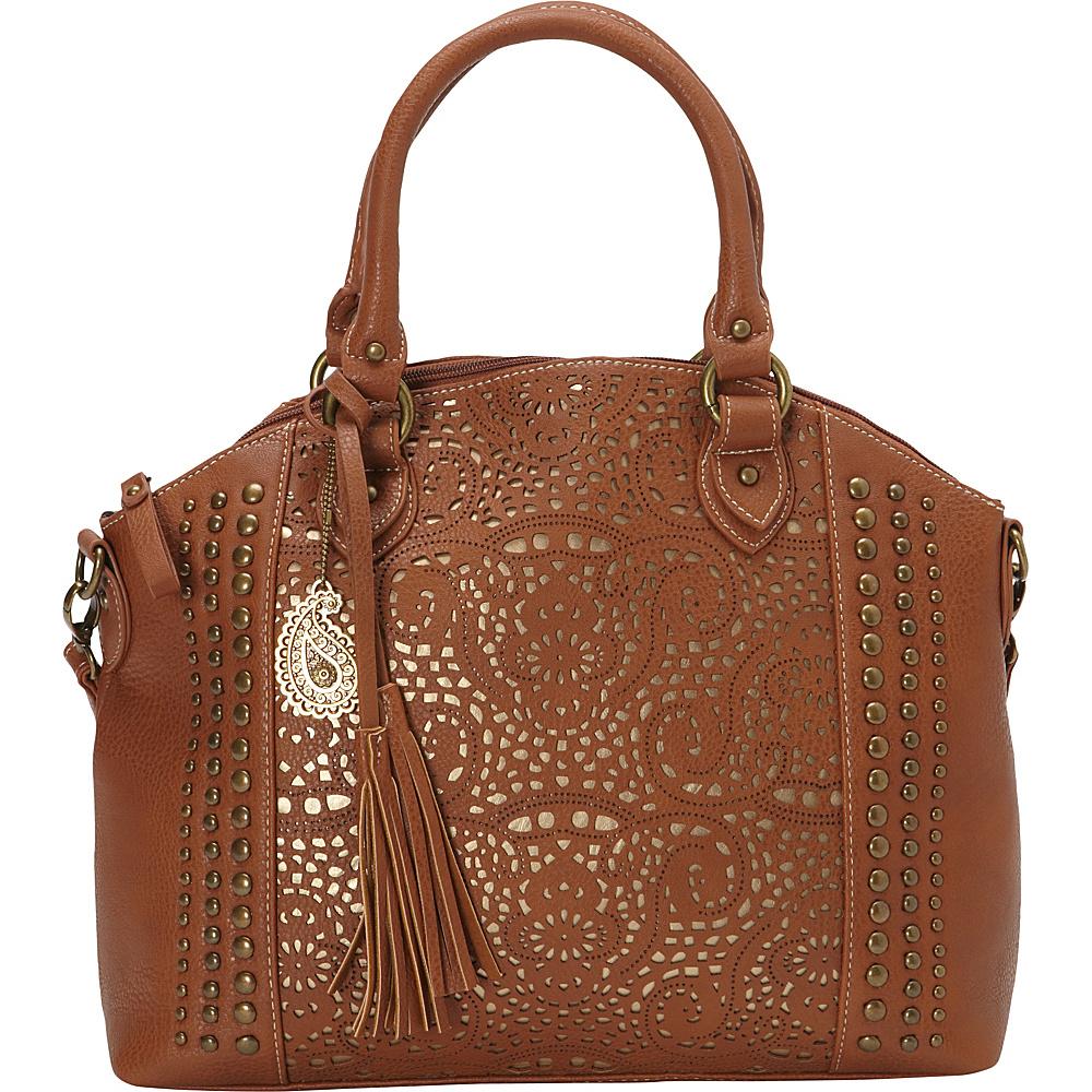 Bandana Mesa Collection Convertible Zip top Tote TAN GOLD Bandana Manmade Handbags