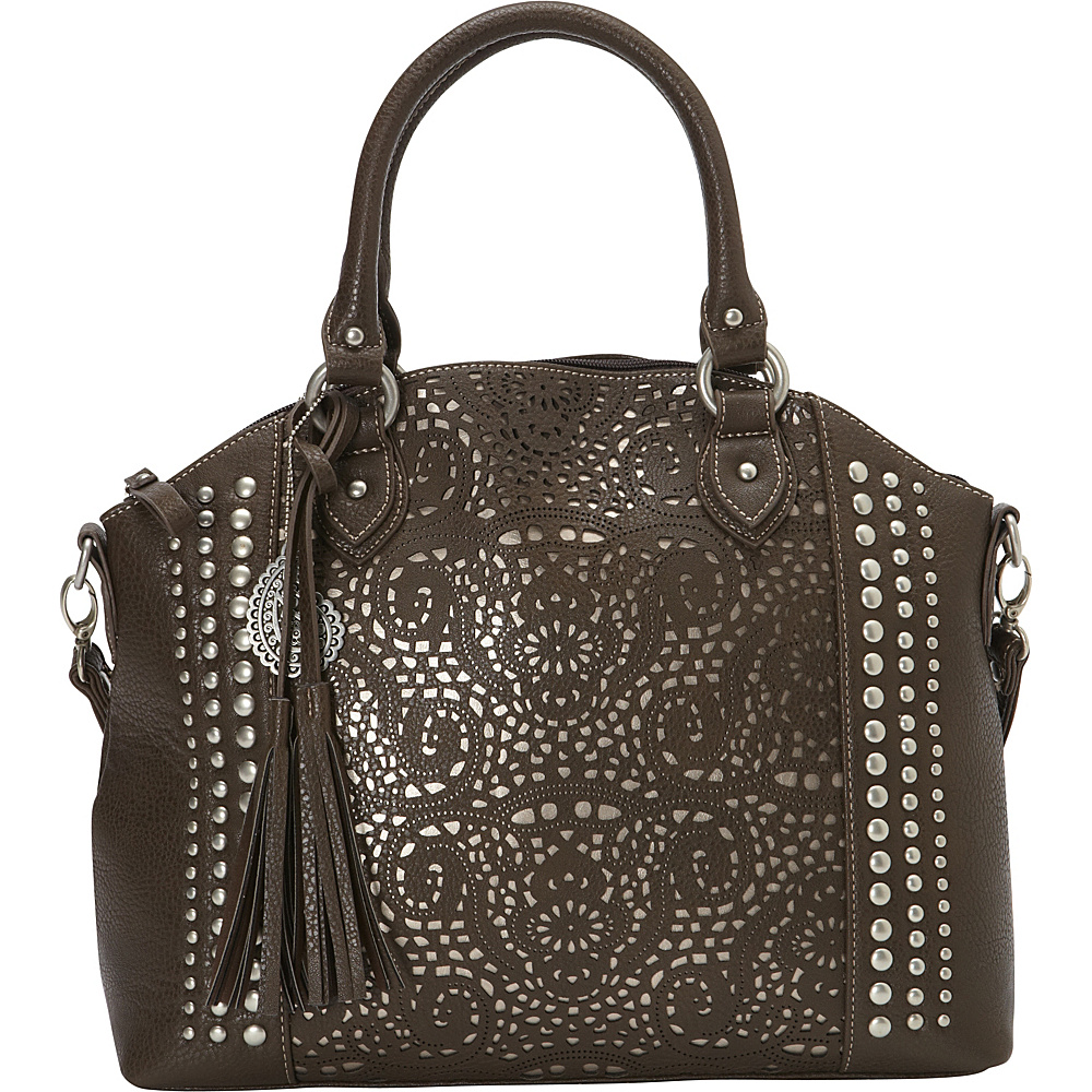 Bandana Mesa Collection Convertible Zip top Tote CHOCOLATE METALLIC Bandana Manmade Handbags
