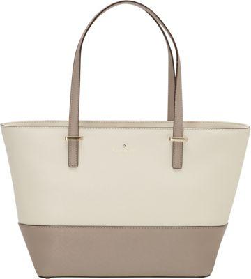 kate spade new york Cedar Street Mini Harmony Tote - Colorblock Pebble/Warm Putty - kate spade new york Designer Handbags