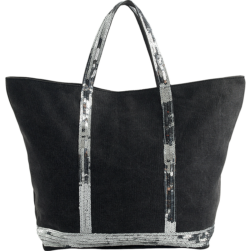 San Diego Hat Cotton Canvas Bag with Sequins Grey Sequin - San Diego Hat Fabric Handbags