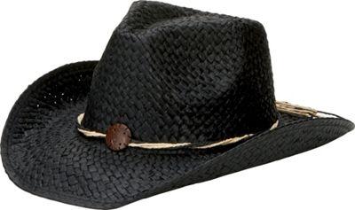 San Diego Hat Woven Paper Cowboy Hat With Coconut Trim