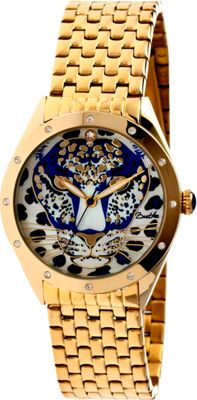 Image of Bertha Watches Alexandra Stainless Steel Watch Gold/Blue - Bertha Watches Watches