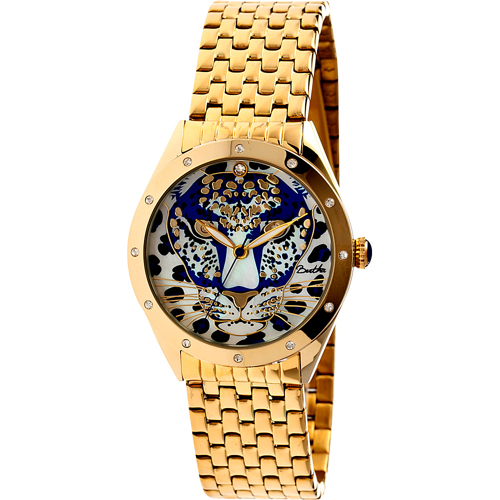 Bertha Watches Alexandra Stainless Steel Watch Gold Blue Bertha Watches Watches