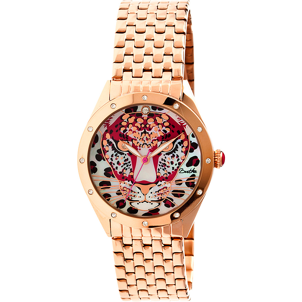 Bertha Watches Alexandra Stainless Steel Watch Rose Gold Bertha Watches Watches