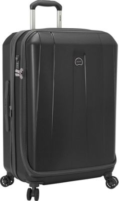 Delsey Helium Shadow 3.0 25 inch Spinner Suiter Trolley Black - Delsey Hardside Checked