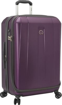Delsey Helium Shadow 3.0 25 inch Spinner Suiter Trolley Purple - Delsey Hardside Checked