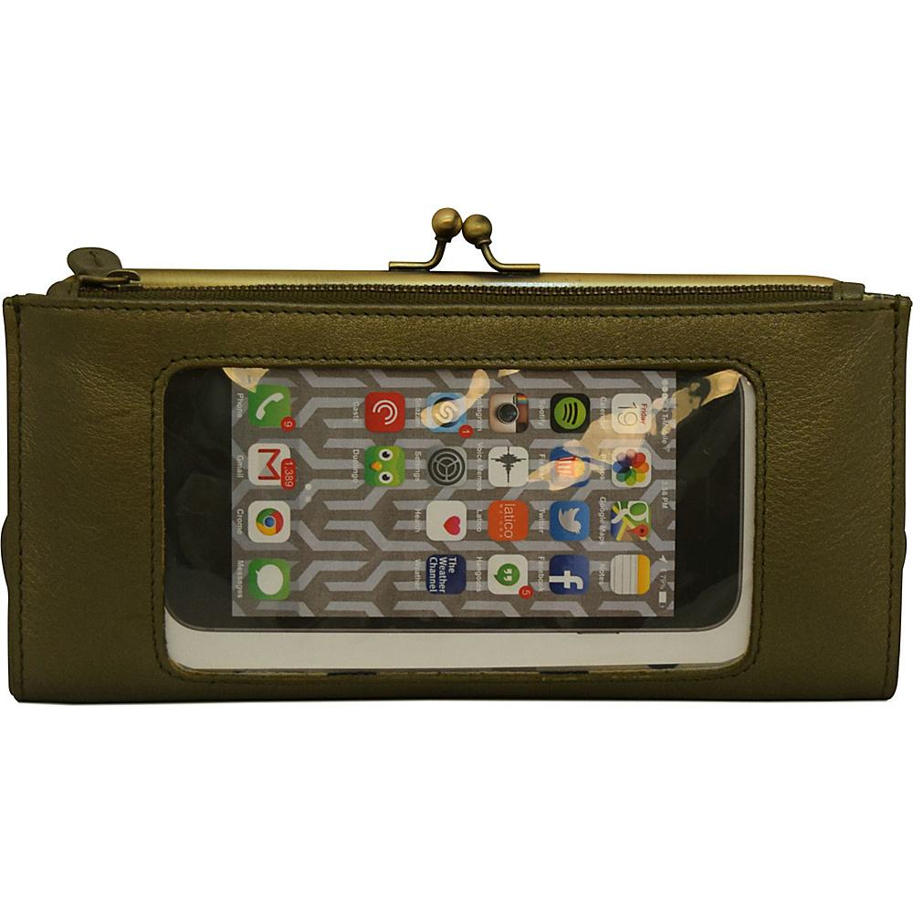Latico Leathers Mavis Window Wallet Metallic Olive - Latico Leathers Womens Wallets - Women's SLG, Women's Wallets