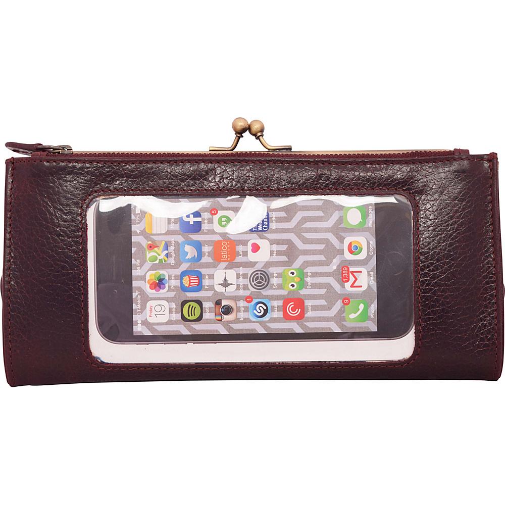 Latico Leathers Mavis Window Wallet Pebble Burgundy - Latico Leathers Womens Wallets - Women's SLG, Women's Wallets