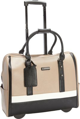 Cabrelli Sofia Classic 15.6 inch Laptop Rollerbrief Taupe Multi - Cabrelli Wheeled Business Cases
