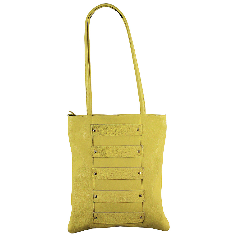 Latico Leathers Emanuelle Shoulder Bag Yellow - Latico Leathers Leather Handbags - Handbags, Leather Handbags