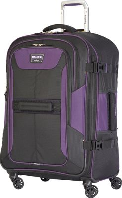 Travelpro T-Pro Bold 2.0 26 inch Expandable Spinner Black & Purple - Travelpro Softside Checked