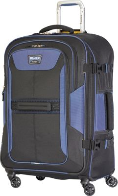 Travelpro T-Pro Bold 2.0 26 inch Expandable Spinner Black & Blue - Travelpro Softside Checked