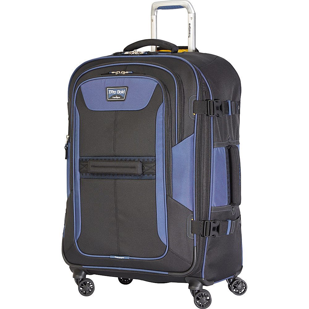 Travelpro T Pro Bold 2.0 26 Expandable Spinner Black amp; Blue Travelpro Softside Checked
