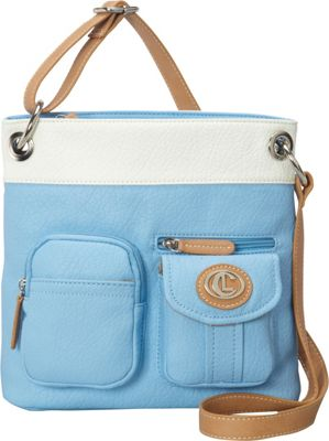 Image of Aurielle-Carryland Bernina 2 Tone Crossbody Sky/White - Aurielle-Carryland Manmade Handbags