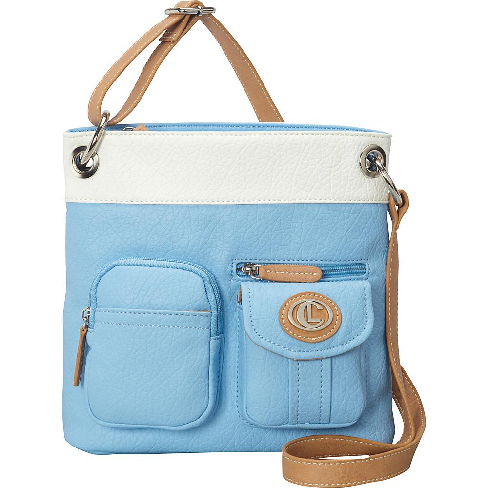 Aurielle Carryland Bernina 2 Tone Crossbody Sky White Aurielle Carryland Manmade Handbags