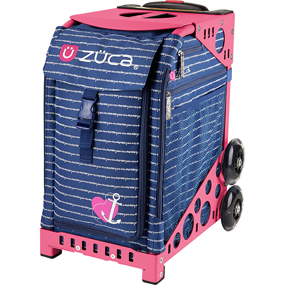 ZUCA Sport Unit Anchor My Heart Bag Pink Frame Pink Frame and Blue Insert ZUCA Softside Checked