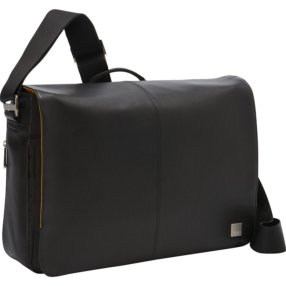 KNOMO London Bungo 15.6 Laptop Messenger Black KNOMO London Messenger Bags