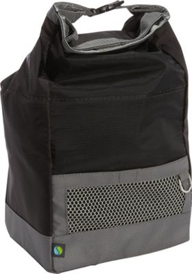 Fit & Fresh Sporty Insulated Lunch Bag Black Nylon - Fit & Fresh Travel Coolers