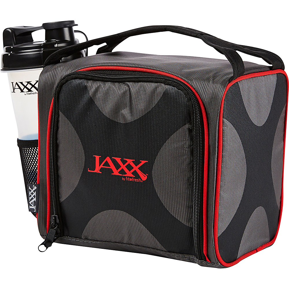 Fit & Fresh Fit & Fresh Jaxx Fuel Pack with Portion Control Containers Black & Red - Fit & Fresh Travel Coolers