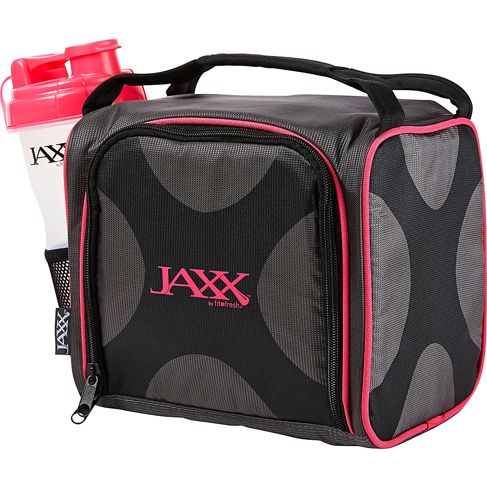 Fit & Fresh Fit & Fresh Jaxx Fuel Pack with Portion Control Containers Black & Pink - Fit & Fresh Travel Coolers