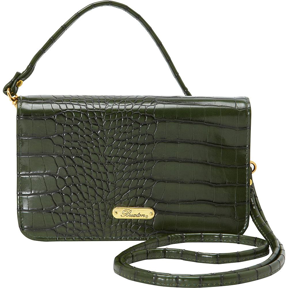 Buxton Nile Exotic Crossbody Mini-Bag Pineneedle - Buxton Womens Wallets - Women's SLG, Women's Wallets