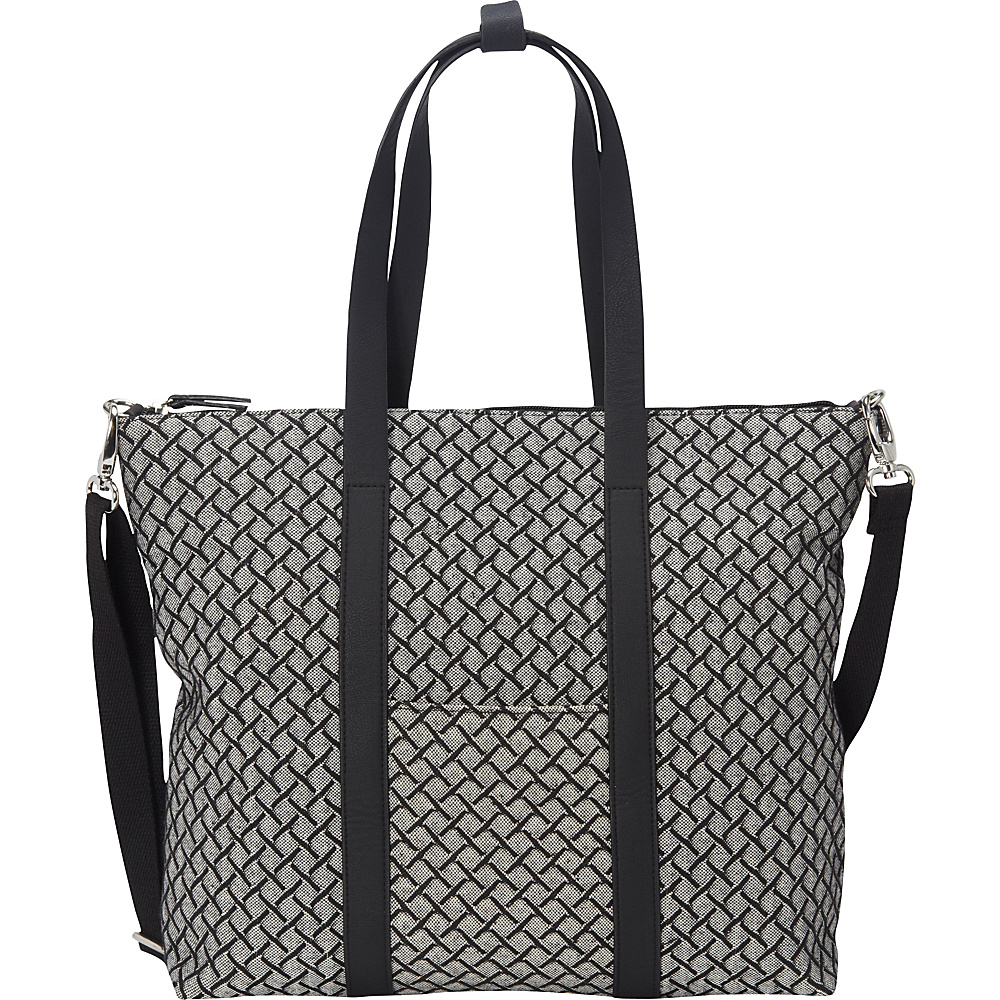 Magid Cotton Weave LG Tote Black - Magid Fabric Handbags