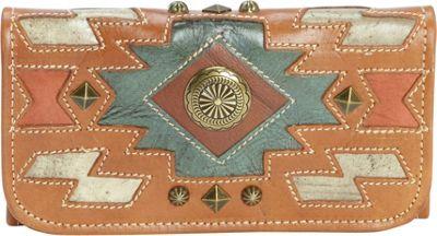 American West Zuni Passage Ladies Tri-Fold Wallet Golden Tan - American West Women's Wallets
