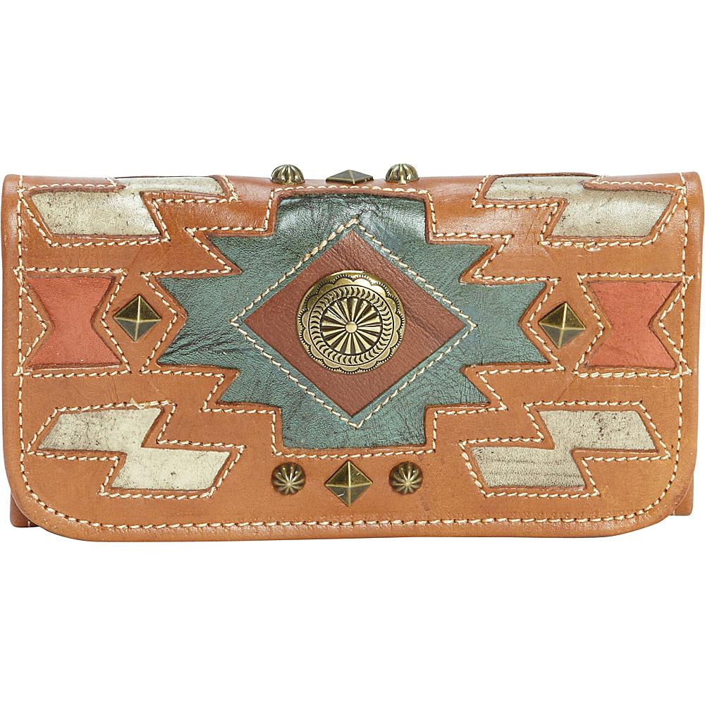 American West Zuni Passage Ladies Tri Fold Wallet Golden Tan American West Women s Wallets