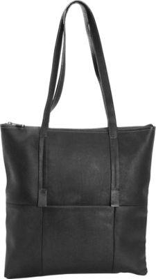 Clava Vertical Nana Tote Vachetta Black - Clava Leather Handbags