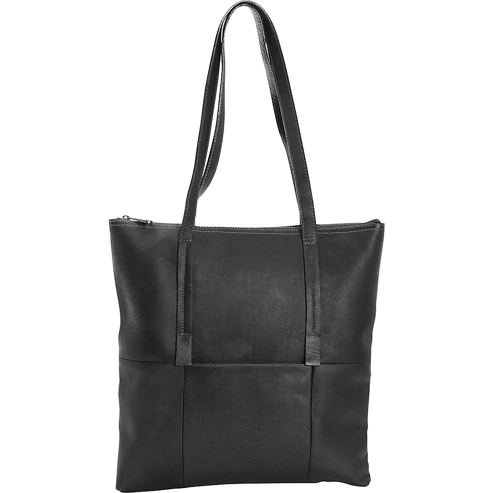 Clava Vertical Nana Tote Vachetta Black Clava Leather Handbags
