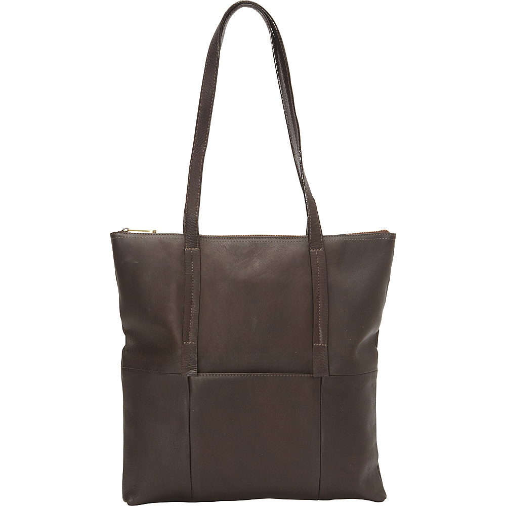 Clava Vertical Nana Tote Vachetta Cafe Clava Leather Handbags
