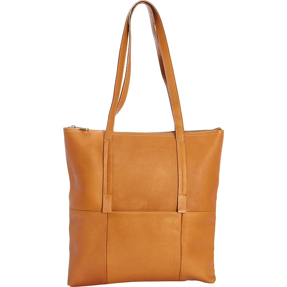 Clava Vertical Nana Tote Vachetta Tan Clava Leather Handbags