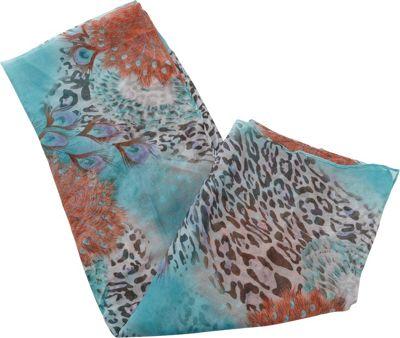 Magid Glove Animal Print and Flower Sarong Turquoise - Ma...