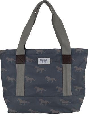 Sloane Ranger Tote Bag Grey Horse - Sloane Ranger Fabric Handbags