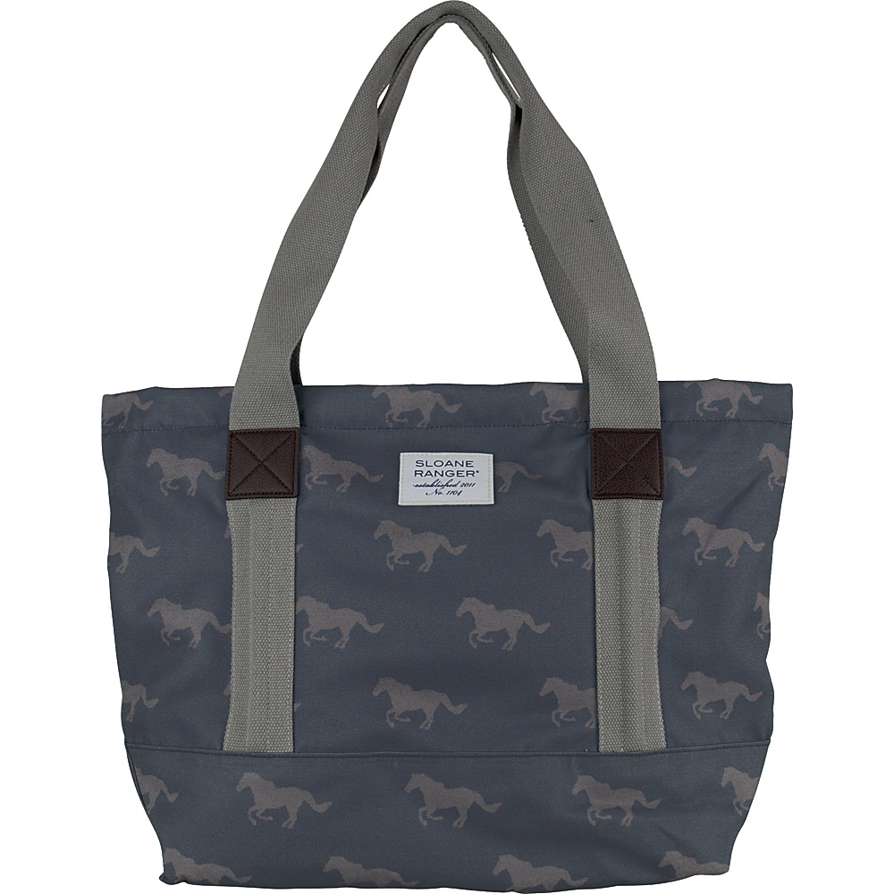 Sloane Ranger Tote Bag Grey Horse - Sloane Ranger Fabric Handbags