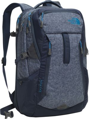 The North Face Router Laptop Backpack - 17 inch Urban Navy Heather/Banff Blue - The North Face Business & Laptop Backpacks