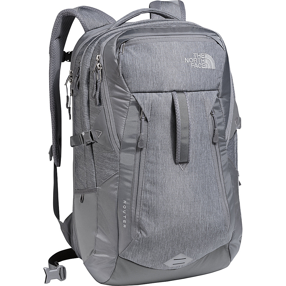 The North Face Router Laptop Backpack - 17 Tnf Medium Grey Heather/Zinc Grey - The North Face Business & Laptop Backpacks - Backpacks, Business & Laptop Backpacks