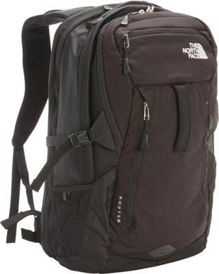 """North Face Router Laptop Backpack - 17"""" TNF Black - The N..."""
