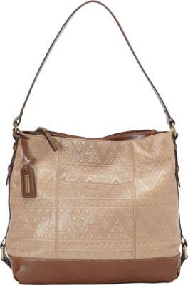 Tignanello Soho Vintage Embossed Hobo Frappe - Tignanello Leather Handbags
