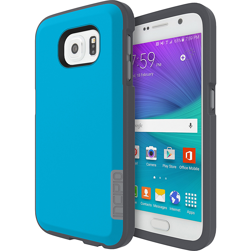 Incipio Phenom for Samsung Galaxy S6 Neon Blue/Charcoal Gray - Incipio Electronic Cases - Technology, Electronic Cases