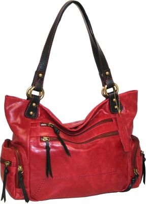 Nino Bossi Got Pockets Shoulder Bag Red - Nino Bossi Leather Handbags