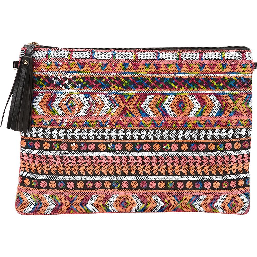 Melie Bianco Shannon Clutch White Multi - Melie Bianco Manmade Handbags