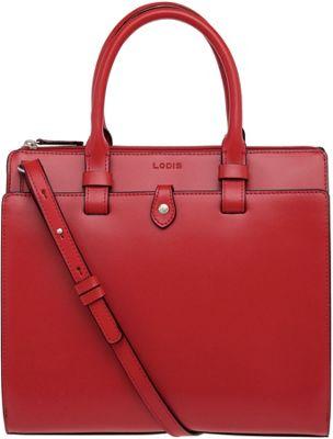 Lodis Audrey Linda Mini Satchel Red - Lodis Leather Handbags